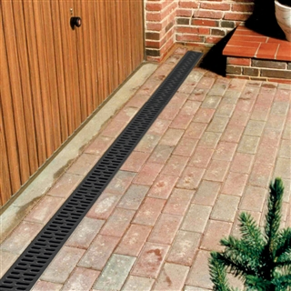 ACO HexDrain Channel 1m with Black Plastic Grating