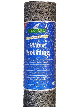 Kestrel Galvanised Wire Netting 900mm x 13mm x 13mm 22g Mesh 10m Roll