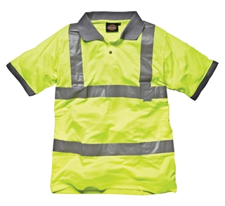 Dickies Hi-Vis Polo Shirt Yellow Size M