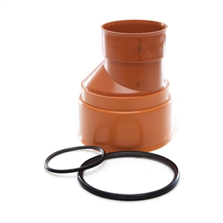 Polypipe Polysewer 225mm Level Invert Reducer 225mm x 150mm PS1021