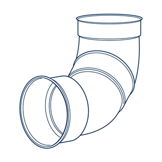 Polypipe Polysewer 225mm 90° Double Socket Short Radius Bend PS1011