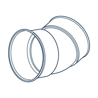 Polypipe Polysewer 225mm 30° Double Socket Short Radius Bend PS1067