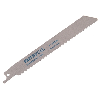 Faithfull Sabre Saw Blades Metal S918H (Pack of 5)