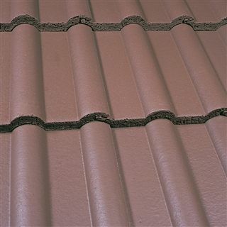 Marley Double Roman Tile Smooth Brown