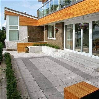 Argent Paving 400mm x 400mm x 38mm Coarse Light