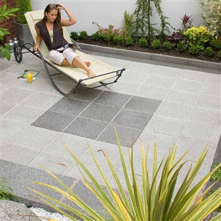 Argent Paving 600mm x 600mm x 38mm Smooth Dark