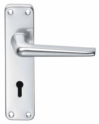 Aluminium Bathroom Privacy Handle Set Silver Anodised Aluminium