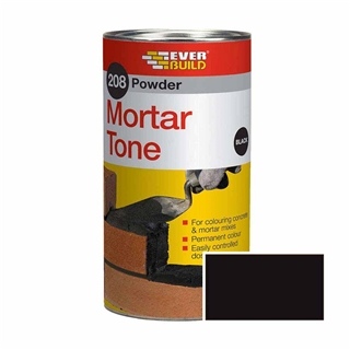 Everbuild 208 Powder Mortar Tone 1kg Black