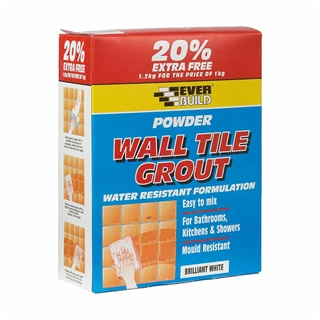 Everbuild 704 Powder Wall Tile Grout 3kg