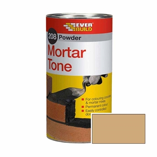 Everbuild 208 Powder Mortar Tone 1kg Buff