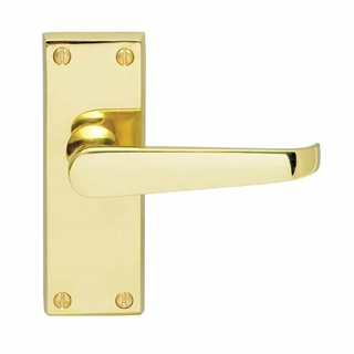 Contract Victorian Lever Latch Handle Brass