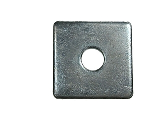 M10 50mm x 50mm x 3mm Square Plate Washer BZP