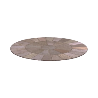 Marketstone Paving Circle Kit 2.84m Autumn Multi
