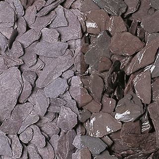 Plum Slate Chippings 20mm Polybag