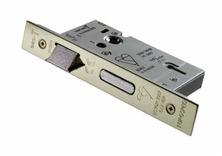 """Easi-T Mortice Lock 5 Lever BS 3"""" Stainless Brass"""