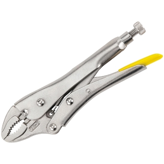 """Stanley Locking Pliers Curved Jaw 225mm (9"""")"""