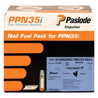 Paslode 141185 PPN35i Nail Fuel Pack 35mm x 3.4mm Galvanised