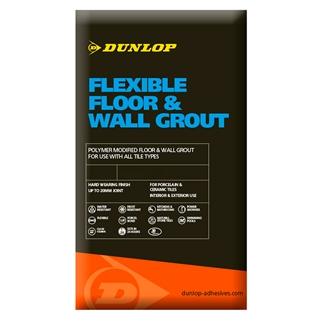 Dunlop Flexible Floor & Wall Grout Ivory 10kg
