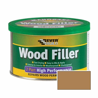 Everbuild 2 Part High Performance Wood Filler Medium 500g