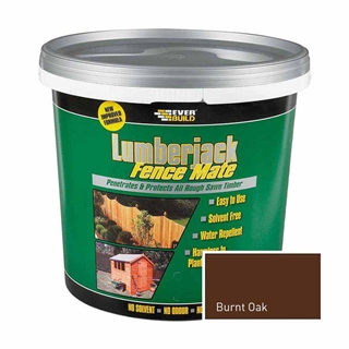 Everbuild Lumberjack Fence Mate Burnt Oak 5 Litre