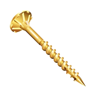"""4.5mm x 30mm (9g x 1¼"""") Reisser R2 Cutter Countersunk Pozi Wood Screws Yellow Tropicalized (Box of 200)"""