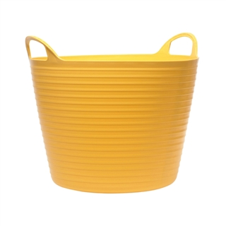 Faithfull Heavy Duty Polyethylene Flex Tub 15L Yellow