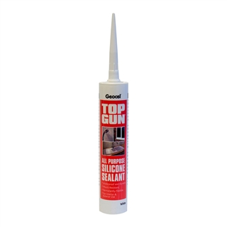 Geocel Top Gun All Purpose Silicone Sealant 310ml Cartridge White