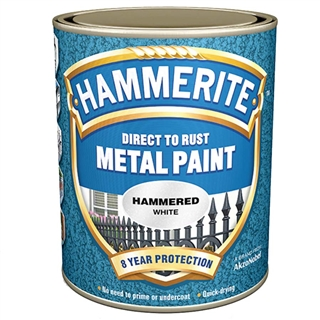 Hammerite Hammered White Paint 750ml