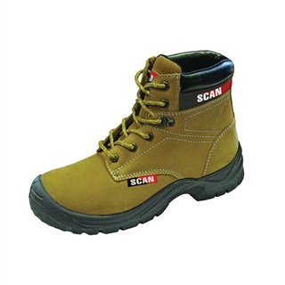 Size 9 Cougar Nubuck Safety Boots Tan