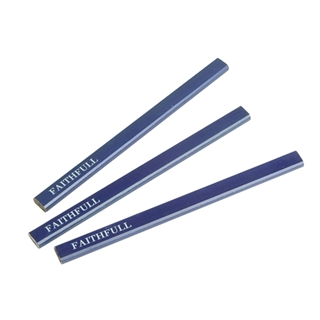 Faithfull Carpenters Pencils Blue/Soft (Pack of 3)