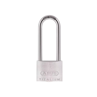 Abus 64ti/50HB80 Titalium Padlock 50mm x 80mm Long Shackle Carded