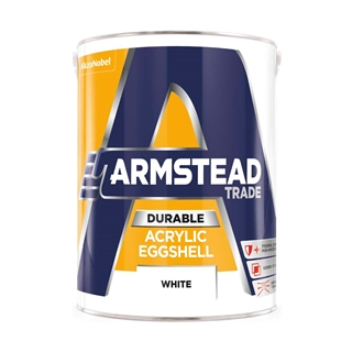 Armstead Trade Durable Acrylic Eggshell White 5 Litre