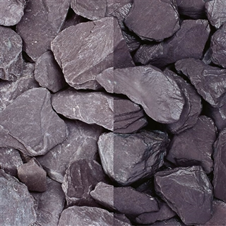 Plum Slate Chippings 40mm Polybag