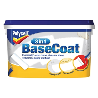 Polycell 3 in 1 Basecoat 2.5 litre