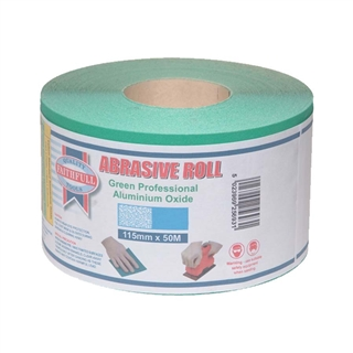 Faithfull Aluminium Oxide Paper Roll Green 115mm x 50m 60G