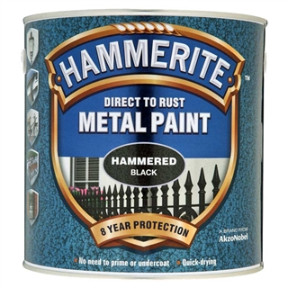 Hammerite Hammered Black Paint 250ml