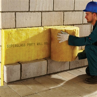 100mm Party Wall Roll 5.75m 3 x 455mm (7.85m²) 5872