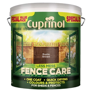 Cuprinol CX Less Mess Fence Care Rustic Brown 6 Litre