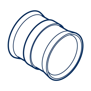 Polypipe Polysewer 225mm Slip Coupler PS1000