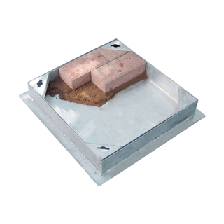 Block Pavior Internal Recessed Tray Manhole Cover and Frame 300mm x 300mm x 95mm Depth