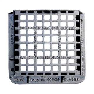 Ultra D400 Pedestrianised Gully Grating and Frame 420mm x 420mm x 100mm Depth
