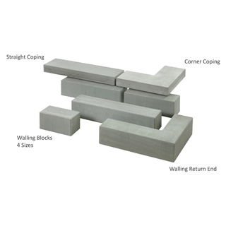 Avant-Garde Walling Return End A 500/200mm x 136mm x 50mm Silver