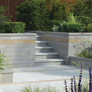 Avant-Garde Walling Straight Coping 500mm x 136mm x 50mm Silver
