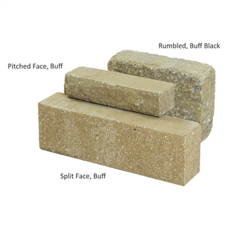 Carluke Walling Rumbled Face 450mm x 100mm x 215mm Buff