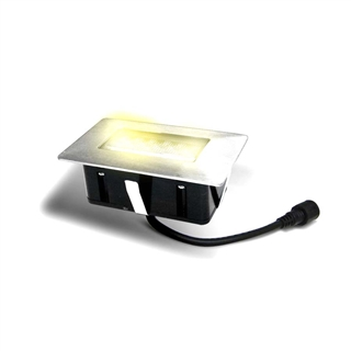 Easy Connect IP67 1.5W LED Square Decking Light Warm White