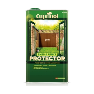 Cuprinol Shed and Fence Protector Golden Brown 5 Litre