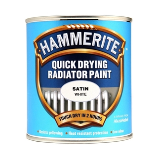 Hammerite Quick Dry Radiator Paint Satin White 500ml