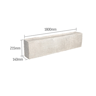 Prestressed Concrete Lintel 140mm x 215mm 1800mm (R - Type G8)