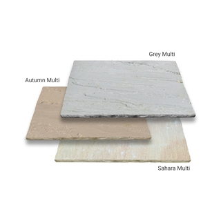 Marketstone Calibrated Paving 5 Size ¾ Crate Project Pack 15.82m² Grey Multi