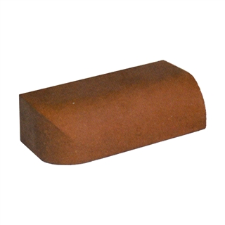 Special Shaped Bricks Smooth Red Bullnose Ext Return On Edge LH BN.10.2